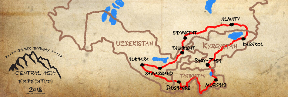 Central Asia Expedition 2018: Vyrážíme! 1